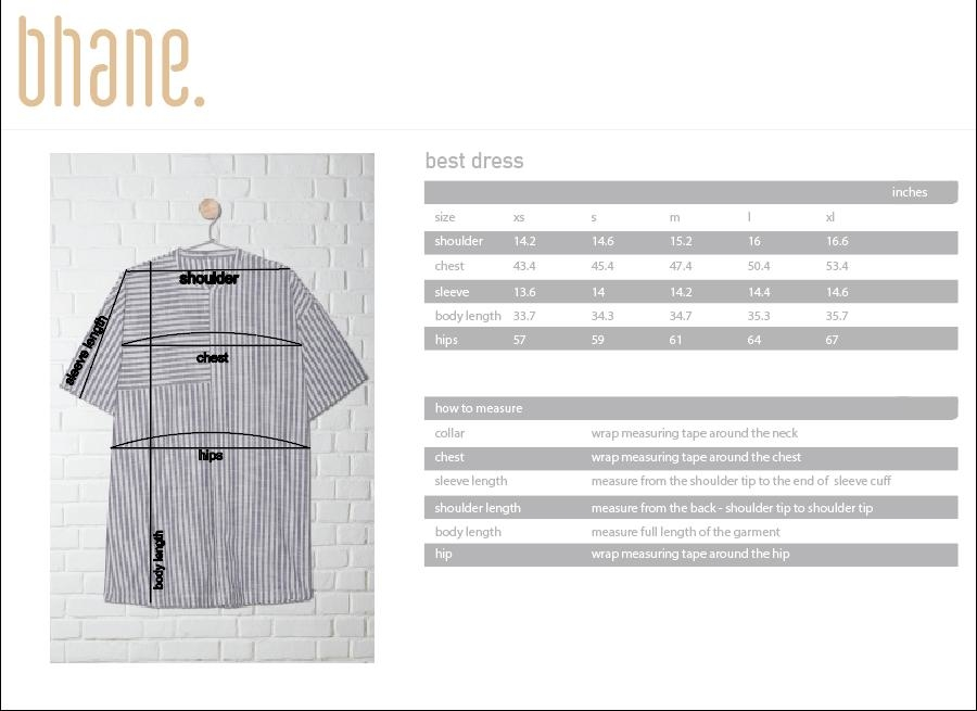 flow dress's Size Chart
