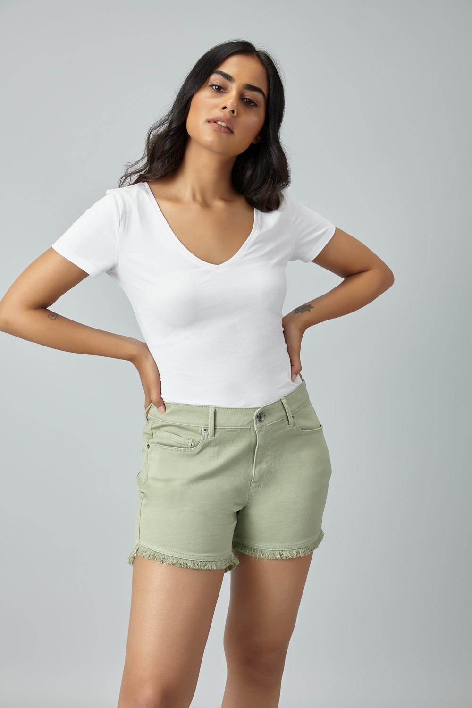6ac443d9097 Denim Summer Shorts - Sage