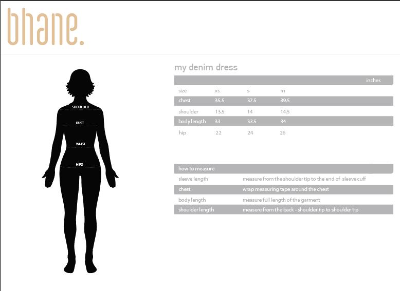 my denim dress's Size Chart