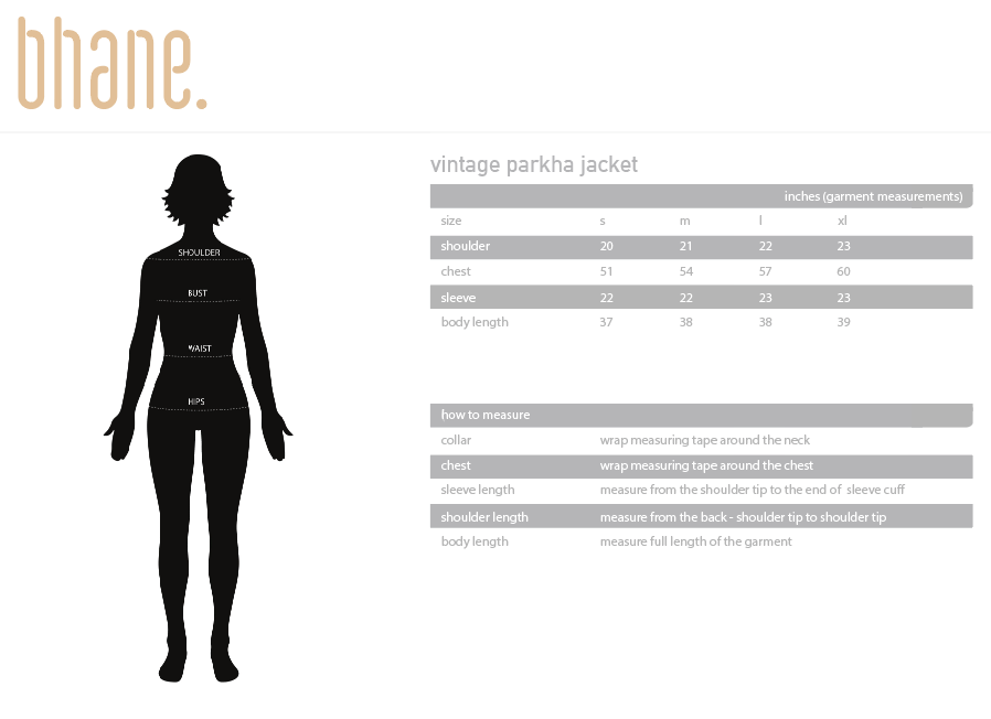 vintage parka jacket's Size Chart