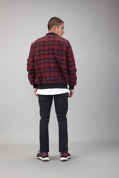 slim jeans with youth print