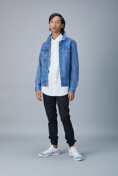 floating higher denim jacket
