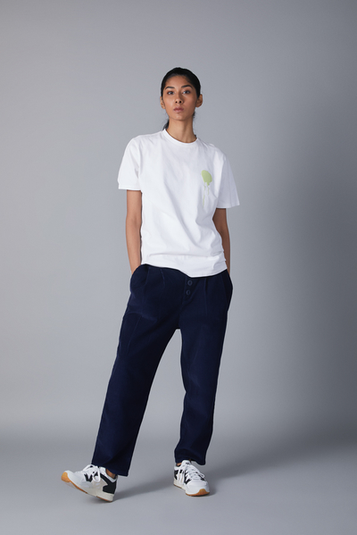 cropped cord trouser