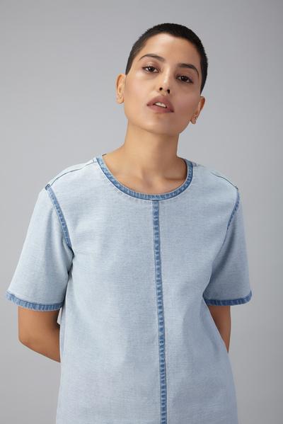 denim reverse dress