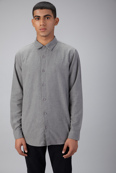 BRUSHED MELANGE SHIRT