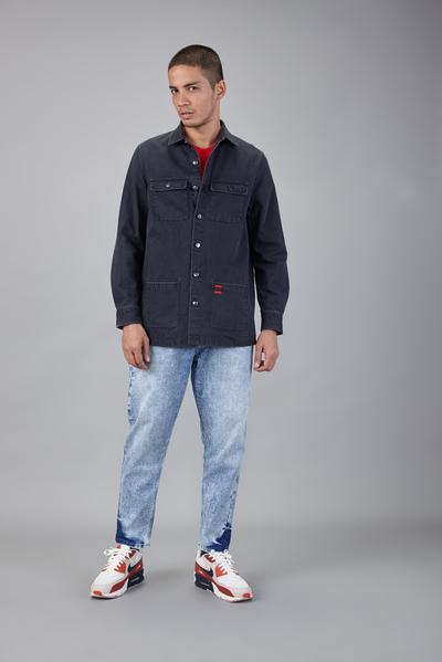 cargo denim shirt