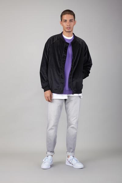 velvet bomber jacket