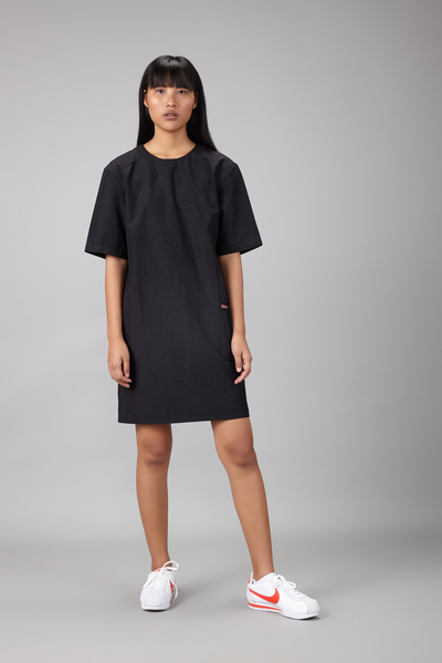 shift dress with patch pocket