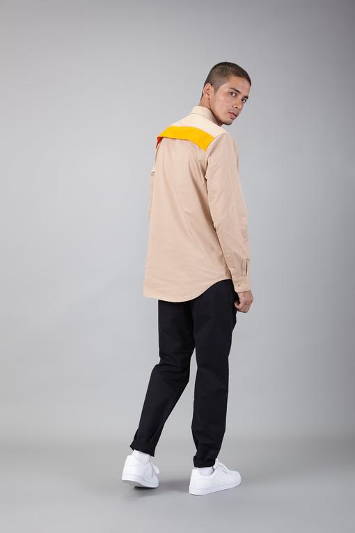 contrast panel shirt