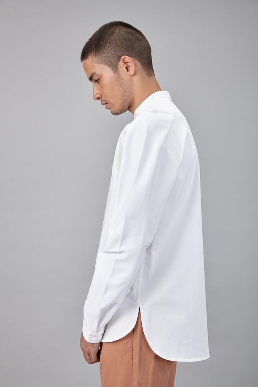 rib panel shirt