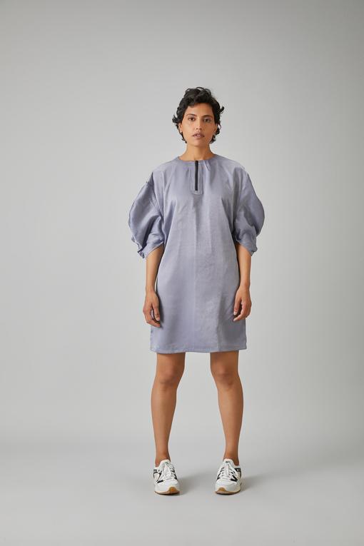 gathered sleeve dress