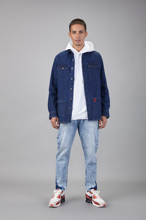 cargo denim shirt