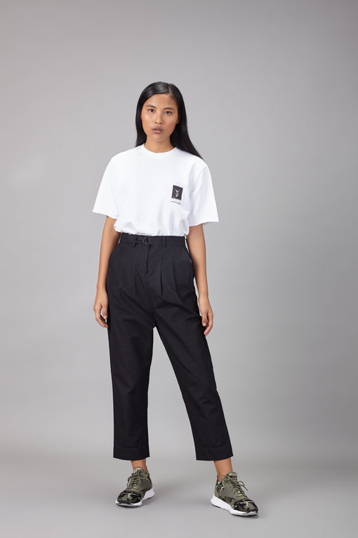 belted peg trouser