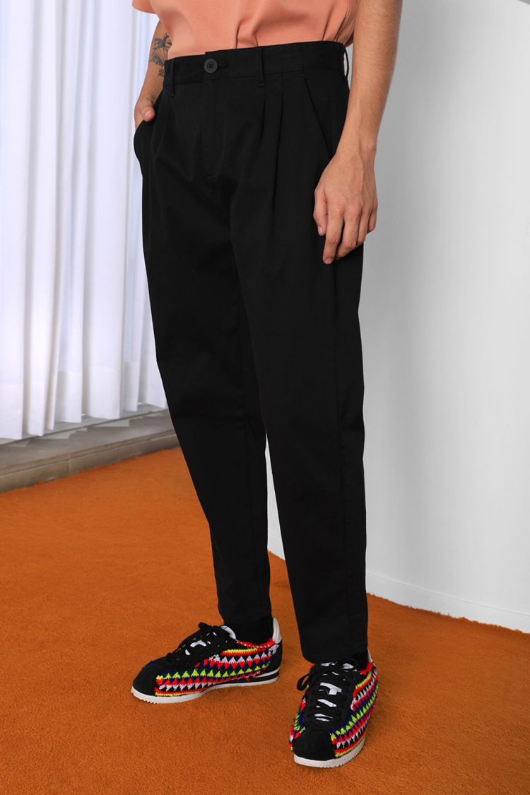 cropped baggy trousers