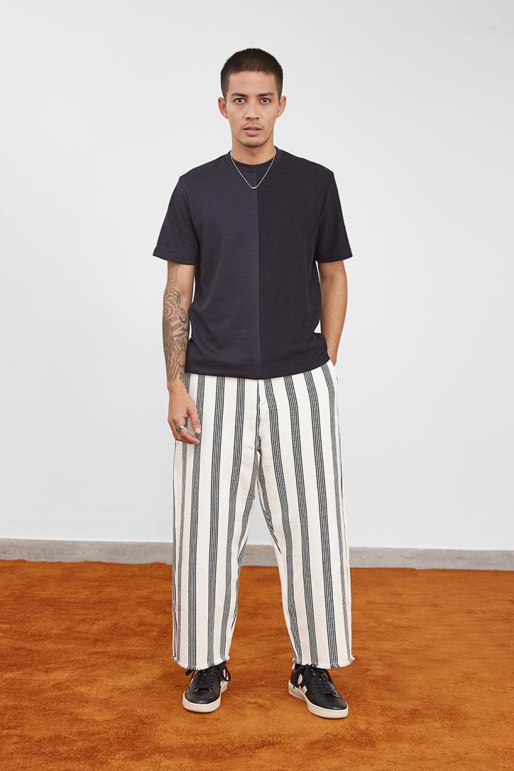 stripe fryday pants