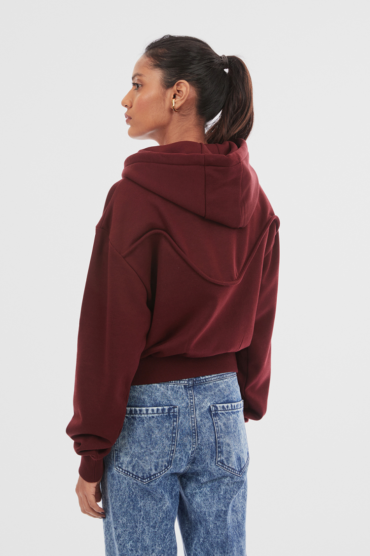 soft biker hoodie